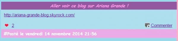 Aller voir ce blog sur Ariana Grande !