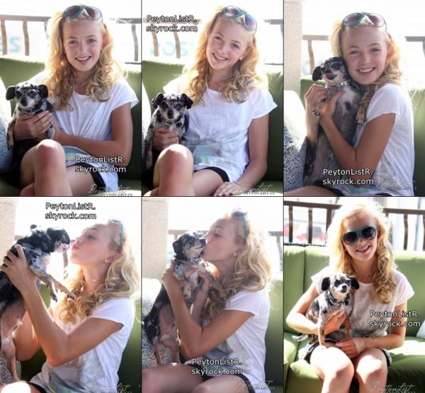 11/07/12 : Voici les photos de Peyton et son chien