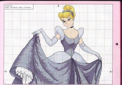une grille princesse disney : Cendrillon