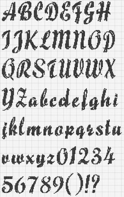 """alphabet que j'ai utilisé pour ma serviette """"Amélie"""" avec les chats de Margaret Sherry"""