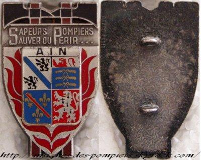 INSIGNES DES POMPIERS DE L' AIN (01)