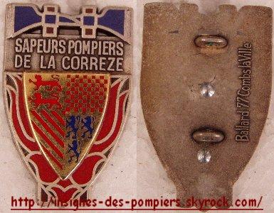 insignes des pompiers de la CORREZE(19)