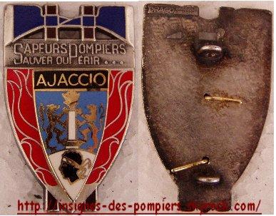 Insignes des pompiers de la CORSE DU SUD (2A)