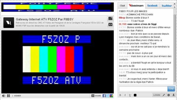 Retrouvez en direct les OMS ATVistes tous les dimanches soir à partir de 18h30