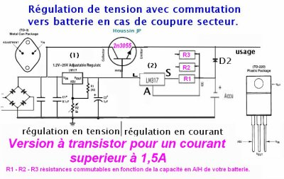Alimentation secourue 12v 5 Ampères
