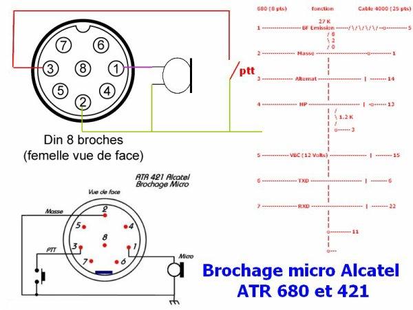 Brochage micro Alcatel ATR 680 et 421