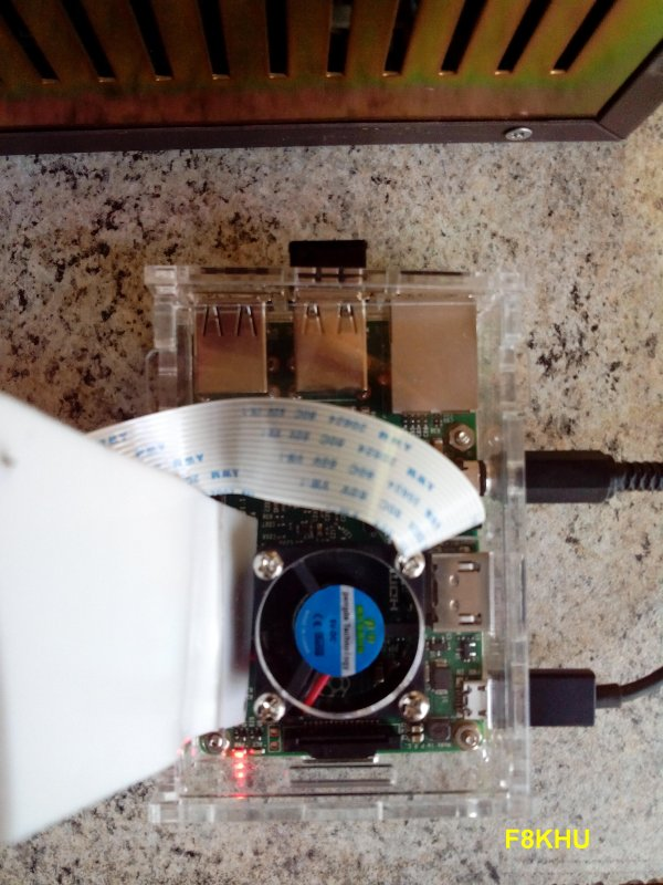 Essais de transmission DATV avec un Raspberry pi.