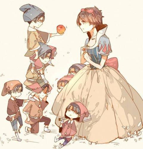 Blanche-neige et les 7 nain version shingeki no kyojin