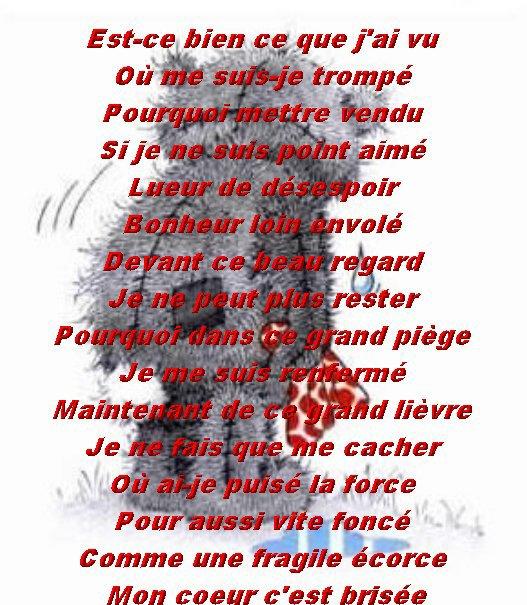 Un Texte Triste Que Jaime Jaime La Vieun Monde Fait D