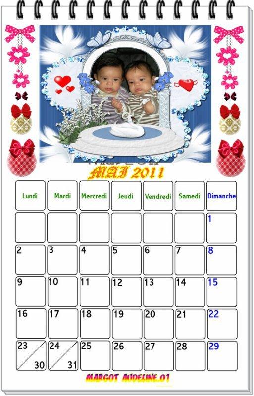 jolie  cadeau  de  mon  ami  michelfermand   le  calendrier  de  mai  avec  mes  tits  amours