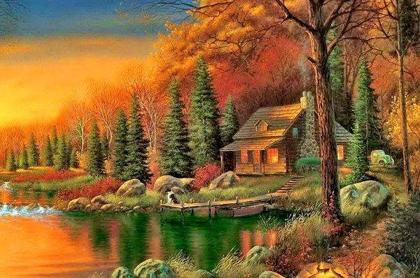 tres belle image d 39 automne j 39 aime la vie un monde fait d 39 amour. Black Bedroom Furniture Sets. Home Design Ideas
