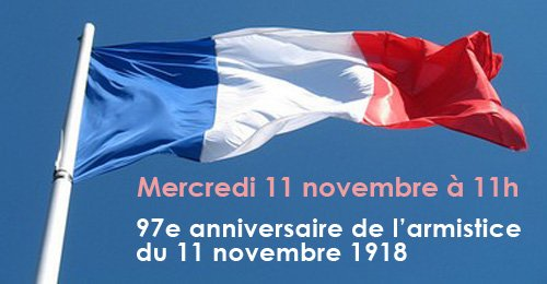 11 novembre  aujourd'hui  commémoration  de  l'armistice  1918