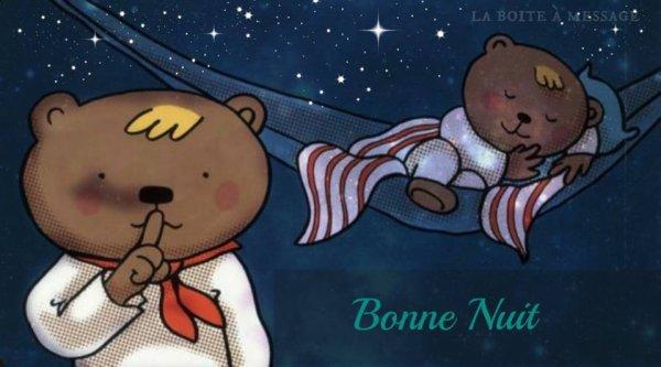 bonne nuit a tous bisous