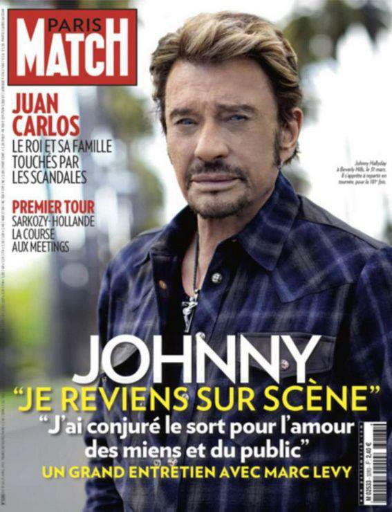 Johnny dans Paris Match