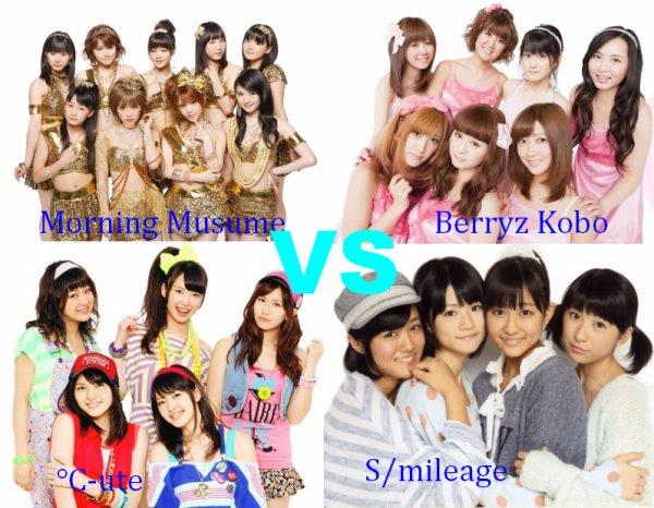 Morning Musume VS °C-ute VS Berryz Kobo VS S/mileage