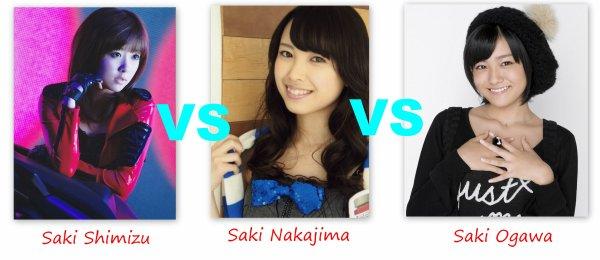 Saki Shimizu VS Saki Nakajima VS Saki Ogawa