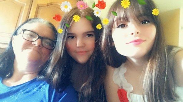 Avec la soeur et la maman ❤️❤️❤️