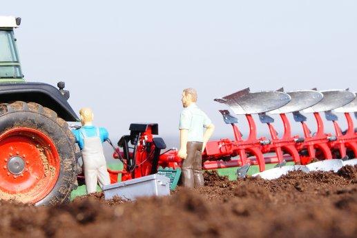 charrue grégoire besson en action pour champ maîs