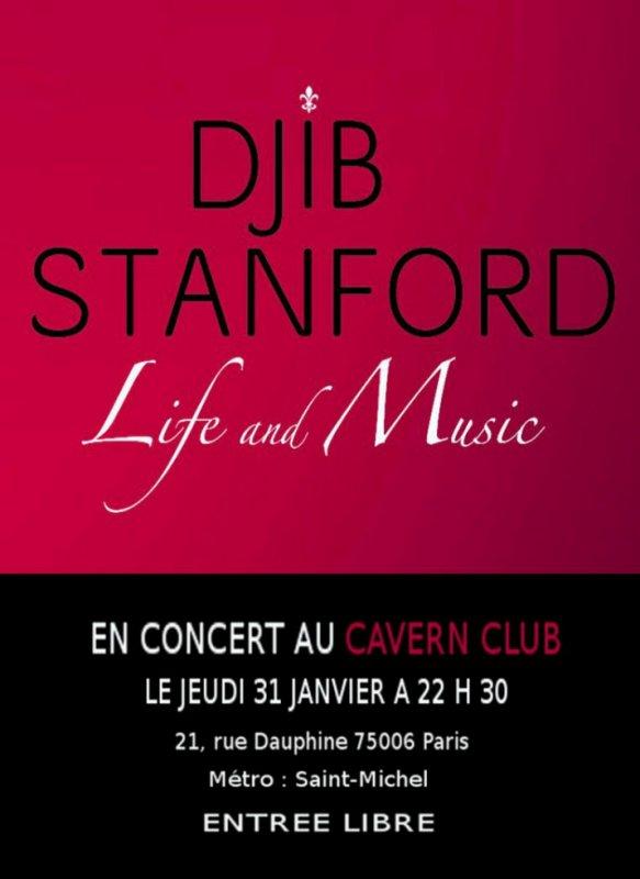 DJIB STANFORD en concert au Cavern Club le 31 Janvier ENTREE GRATUITE