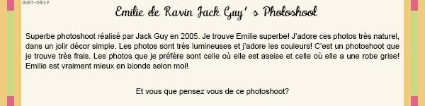 ✦ Emilie De Ravin ✦ _____________________________________________________ Jack Guy's Photoshoot   Rubrique Photoshoot