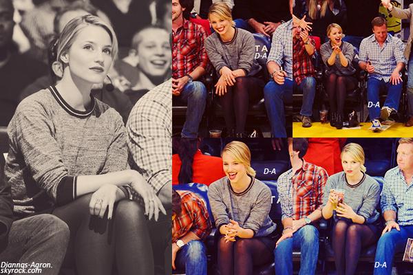 01/04/12 Dianna a été vue à Los Angeles assistant à un match des Lakers. J'adore ses chaussures !