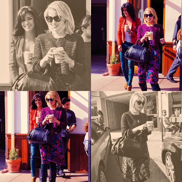 05/04/12 Dianna a été vue déjeunant avec Jessica Szohr   puis dans les rue de West Hollywood