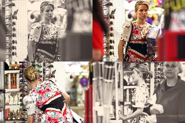 25/04/12 Dianna a été vue sur le set de Glee dans une robe rouge pour tourner l'épisode des Nationals