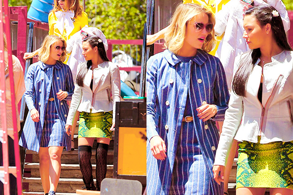 09/05/12 Dianna et ses co-stars étaient sur le set de Glee pour le dernier jour de tournage de la saison 3
