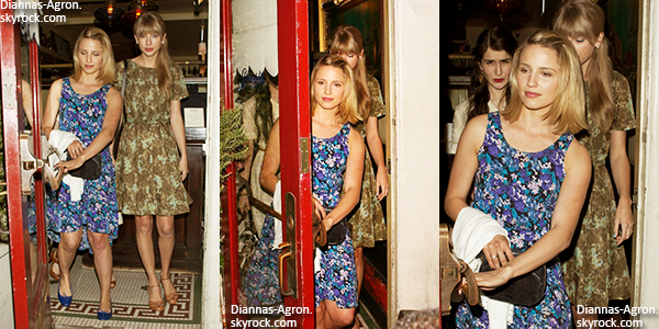 "15/05/12 Dianna et Taylor Swift ont été vues quittant le restaurant ""Dominic's"" à Los Angeles"