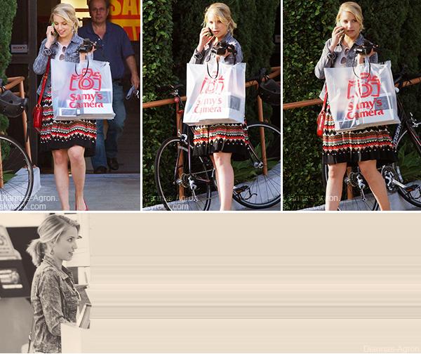 """18/05/12 Dianna est allée faire des achats dans un magasin nommé """"Samy's Camera"""" à West Hollywood"""