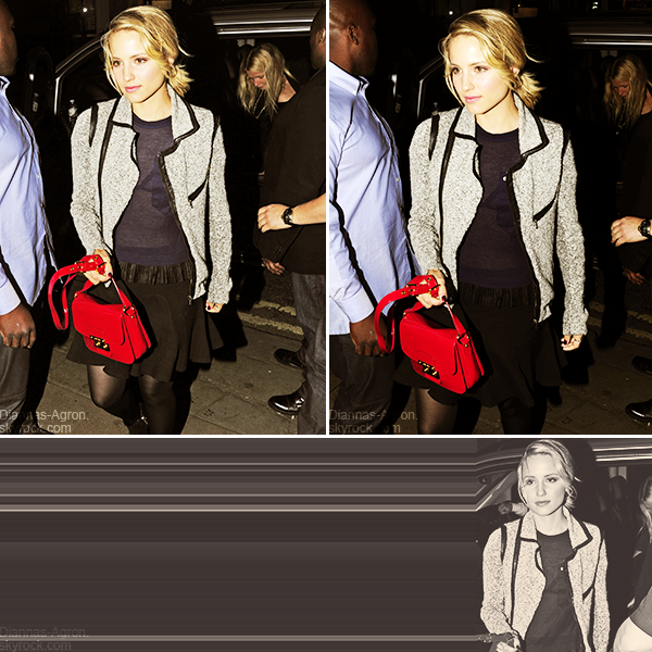 20/05/12 Dianna a été vue arrivant à l'after party du concert de Jay Z et Kanye West au DSTRKT Club à Londres Elle était avec Gwyneth Paltrow, Stella McCartney et Naya Rivera