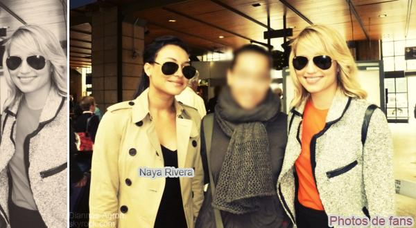 23/05/12 Dianna, Naya Rivera et Matthew Morrison quittant une boîte de nuit nommé Boujis à Londres