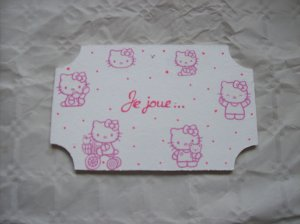 "plaque porte "" hello kitty """