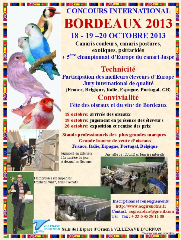 EXPOSITION INTERNATIONALE C.O.M   BORDEAUX 2013