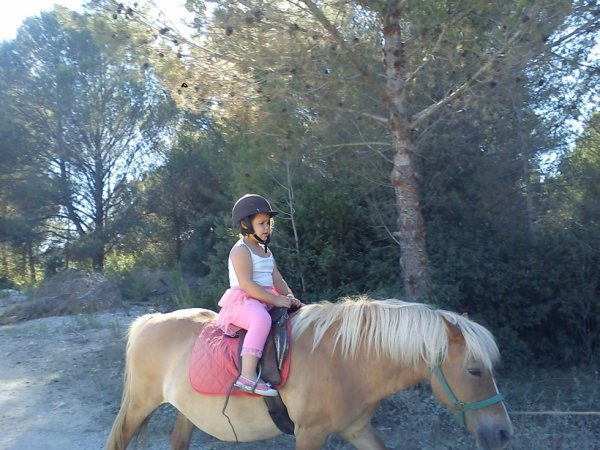 julie au cheval