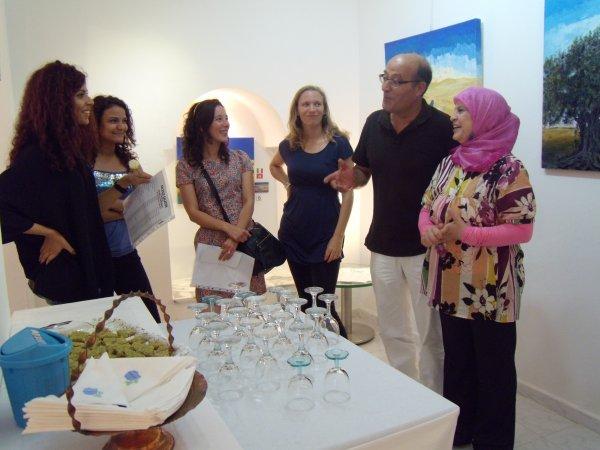 Vernissage de artiste italienne Antonella Carbonaro a Sidi Bou Said.