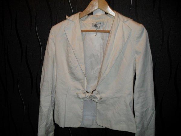 veste blanche 1.2.3 t.36 15¤