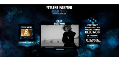 Mylène Farmer BLEU NOIR.