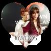 Party Halloween 2018 à SMTOWN : Jaehyun (en Jack Dawson) et Jungwoo (en Rose DeWitt Bukater) dans le film Titanic