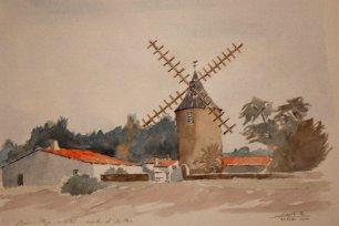 Bois de Plage en Ré: le moulin