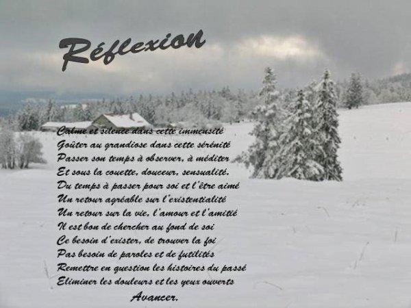 Réflexion !