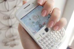 A white Black Berry <3
