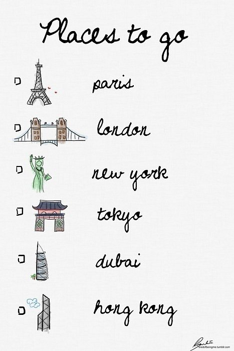 ..Places where I want to go.♥
