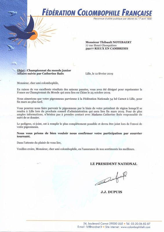 Un jeune de ma colonie rejoindra la Chine pour représenter la France au Championnat du monde une grande premiére pour moi !!!