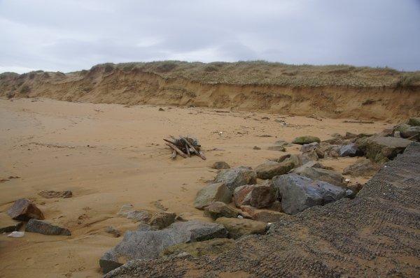 La plage de Ste Barbe en grande souffrance
