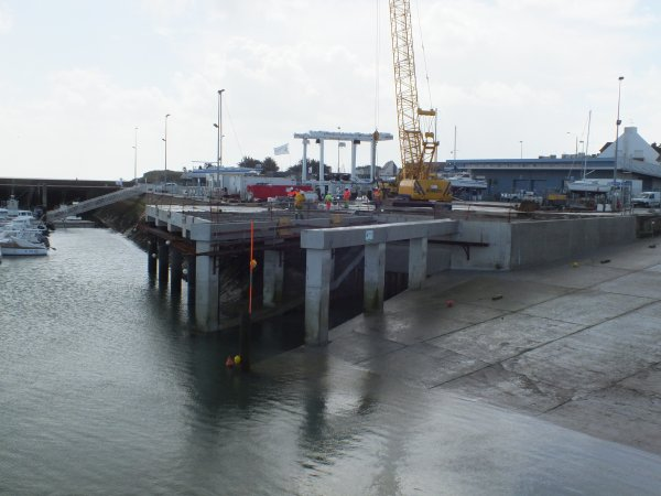Les travaux de la nouvelle fosse à levage se termine.