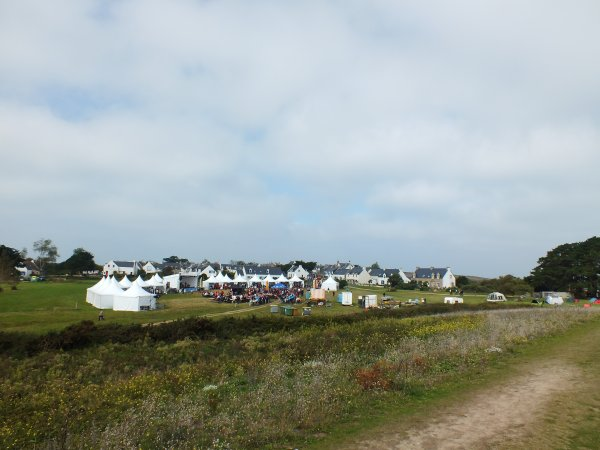 Village de la fêtes des insulaires à Hoëdic dimanche dernier