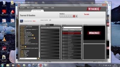 Résultats tournois du 19/01/2011: