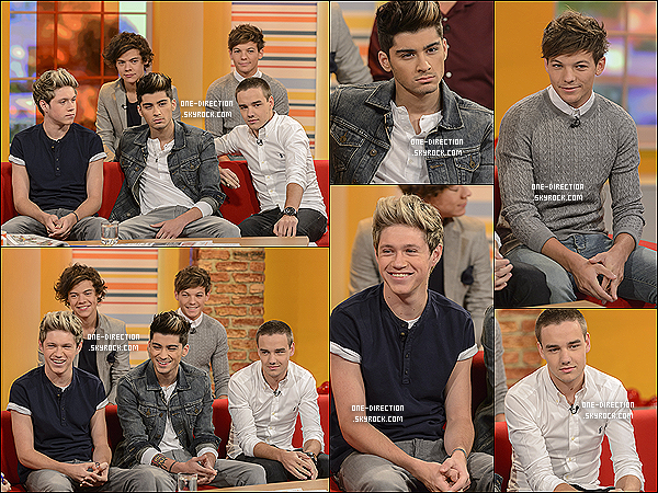 les one direction au ITV studios 2012