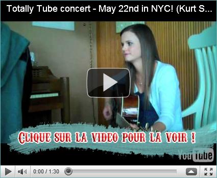 "16 MAI - Tiffany a travaillé avec Kurt Schneider samedi dernier pour ""Totally Tube Concert"" qui aura lieu le 22 mai. Elle a beaucoup aimée !"